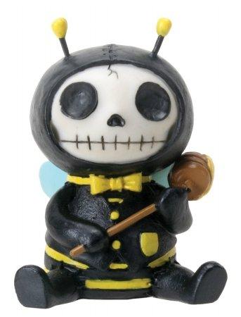 Furrybones sitzend Buzz Totenkopf Gesicht in Bee Kostüm -