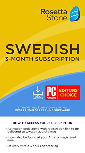 Rosetta Stone Learn Swedish for 3 Months on iOS, Android, PC, and Mac - Mobile & Online Access (Email Delivery in 2 Hours - No CD) (Activation Key Card)