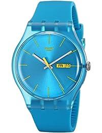 Swatch SUOL700 - Reloj analógico de mujer de cuarzo con correa de plástico azul