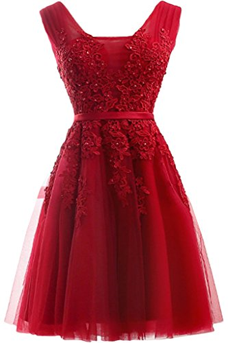 ivyd ressing robe Sweetheart Motif courte tuell Party Prom robe robe de bal Lave-vaisselle robe robe du soir Rouge