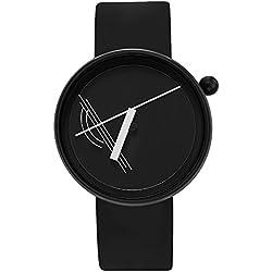 "Projects Watches ""Diagram Black"" Quarz Edelstahl Schwarz Weib Silikon Unisex Uhr"