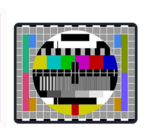 Tv Test Signal Mouse Pad/Mat Stitched Edges Non-Slip Rubber Mousepad 11.8/9.85/0.12
