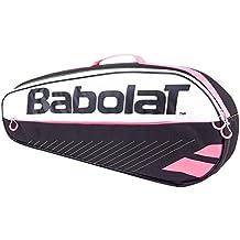 Babolat R Holder Essential Pink Raquetero de Tenis, Unisex Adulto, Negro / Rosa, Talla Única