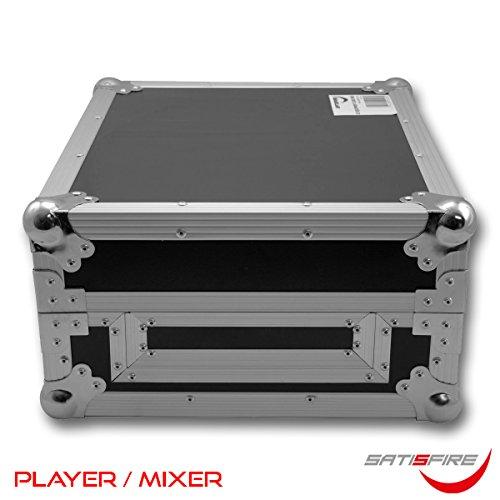 Universal DJ-Equipment Case (für Mixer oder Player) | solider Transportkoffer mit Kugelecken | Flightcase | SATISFIRE
