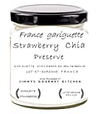 #6: Jimmys Gourmet Kitchen Strawberry Preserve with Chia Seeds Made with Garigutte Strawberries from France 225 GMS (Strawberry Chia Preserve)