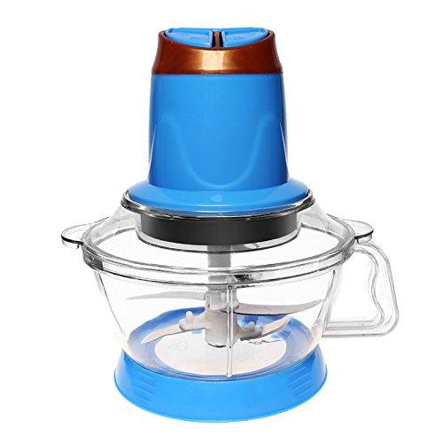 GJY GJY Doppelrührer - Multifunktions-Elektro-Food-Maschine, Füllung Stuffing Machine Haushalt Fleischwolf - Fleisch-Chopper, Kapazität: 2.5L,Blau,Transparent
