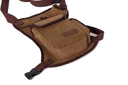 LOBTY Chest Pack Herren Sport Brust Sling Bag Unwucht Rucksack Tasche Damen Herren Brust Pack Khaki