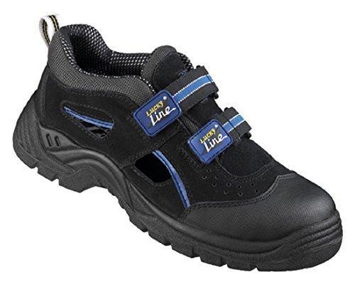 Scarpe da lavoro sandali calzatura antinfortunistica s1 lucky-line templin - giallo, 47 ue