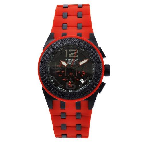 Insignum Herren-Armbanduhr Vescor Ip Rot Schwarz Ip212310