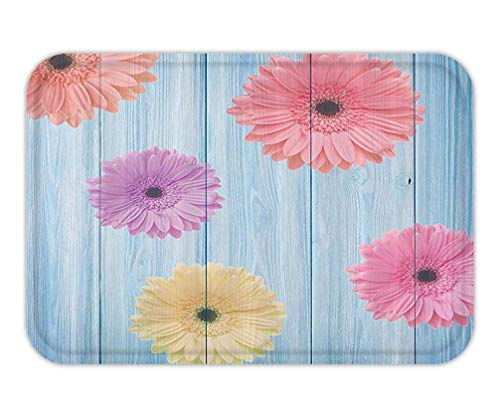 Calendula FloretPlanton Wooden Board Spring Season Inspired Display Fabric Bathroom Decor Set with Hook Long Multi 23.6 W X 15.7 W Inches ()
