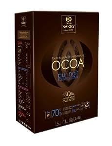 Chocolat de couverture noir Ocoa en pistoles 5 kg (70% cacao Barry)