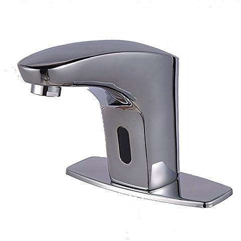 MDRW-Badezimmer-Zubehör Basin WasserhahnBecken Dual Mixer Klicken Sie Link Style Vollständige Erkennung Waschbecken Wasserhahn Kupfer Desktop Waschtischmischer