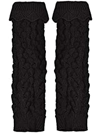 Voberry Women's Crochet Boot Cuffs Toppers Hollow Leg Warmers Socks For Boots