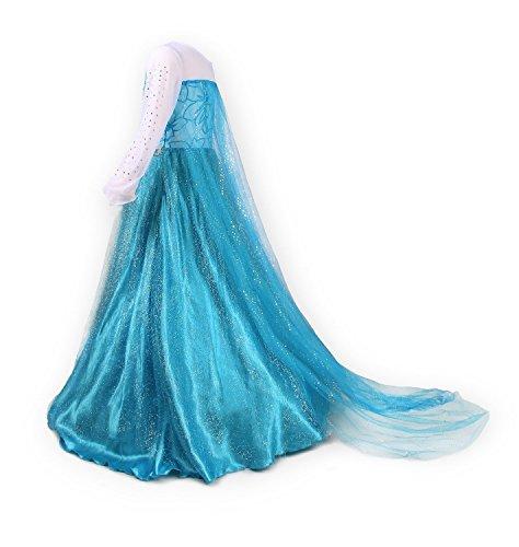 Nice Sport – Disfraz de princesa Elsa de manga larga para niña