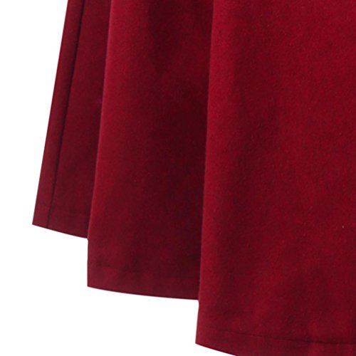 Cappotto Donna Lungo Giacca Vintage,Homebaby Giacca con cappuccio con cappuccio lungo con cappuccio lungo con cappuccio da donna-Cape sfoderabile Rosso