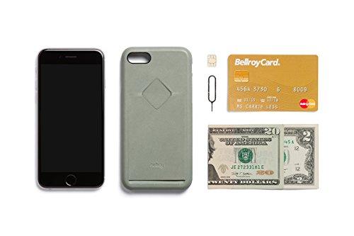 Bellroy iPhone 8 / 7 Phone Case - 1 Card aus Leder, Farbe: Arctic Blue Eucalyptus