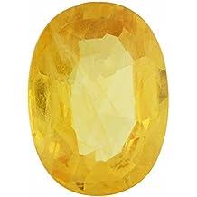 TEJVIJ AND SONS 5.25 Ratti Pokhraj Yellow Sapphire Certified