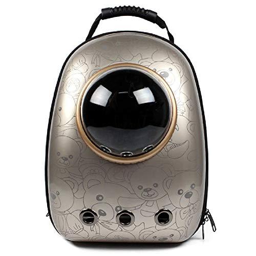 Space Capsule Bubble Design, wasserdichter, weicher Handtaschenrucksack für Katzen und kleine Hunde Farben zur Auswahl (Notebook Journal Kleines)