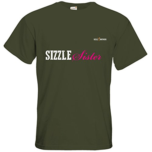 getshirts - SizzleBrothers Merchandise Shop - T-Shirt - SizzleBrothers - Grillen - SizzleSister Khaki