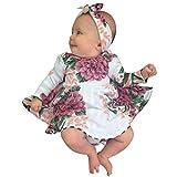 Blumen Drucken Kleid Stirnband Kleider Kleinkind Kinder Baby Mädchen