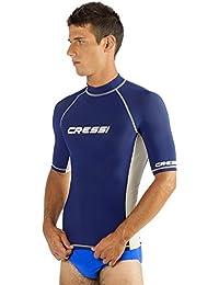 Cressi Herren Rashguard für Schwimmen, Surfen, Tauchen mit Sonne Schutz | Short Sleeve Rash Guard Qualität seit 1946