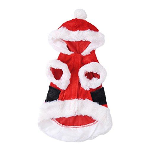 Molie Hundebekleidung Christmas-Style Kleine Hunde Kleider Kleidung mit Weihnachten Deco Rot XXS XS S M L