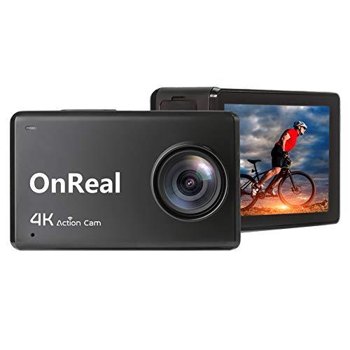 """OnReal Sport Kamera 4K 16MP Wasserdichte Wifi Sport Cam mit 2,45\""""Touchscreen 170 Grad Weitwinkel Unterstützt Burst Mode Zeitraffer GYRO Anti Shake Sport Action Kamera"""