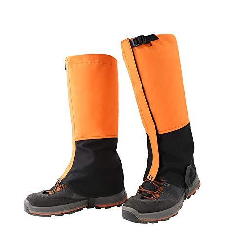 LLCP Escursionismo Ghette 1 Coppia Impermeabile All'aperto A Piedi Arrampicata Neve Stivali Gambali Ghette Uomini Donne Caccia Running,Orange,XL