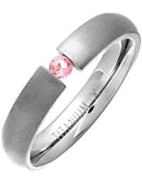 Theia Ring Titan Court Rose Saphir-Tension Matt 4,5mm - Gr. 67 (21.3) TH3212