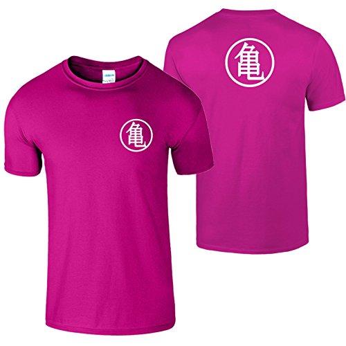 Goku Ausbildung Symbol Herren T Shirt Drachen Ball Meister Heliconia / Weiß Design