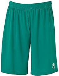 Uhlsport Center Basic II-Pantalón corto para hombre, sin calzón interior, color azul, - lagune, M