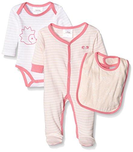 Twins Baby-Mädchen Body Starter-Kit Igel 3er Pack, Rosa (Rosa 3737), 74