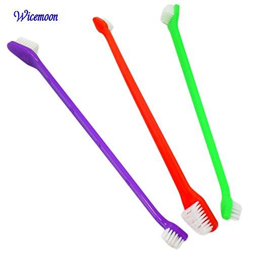 3x wicemoon Pet Hund Katze Zahnbürste Zahnpflege Reinigungsbürste Doppelendige Pet Zahn Bürste Zahnbürste Gesundes Tier Fellpflege Werkzeug