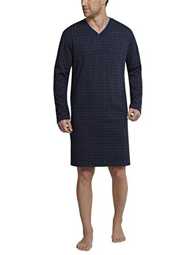 Schiesser Herren Einteiliger Schlafanzug Nachthemd lang Blau (Dunkelblau 803) X-Large (Herstellergröße: 054) -