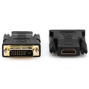 deleyCON HDMI zu DVI Adapter - HDMI Buchse zu DVI Stecker [ vergoldete Kontakte ]