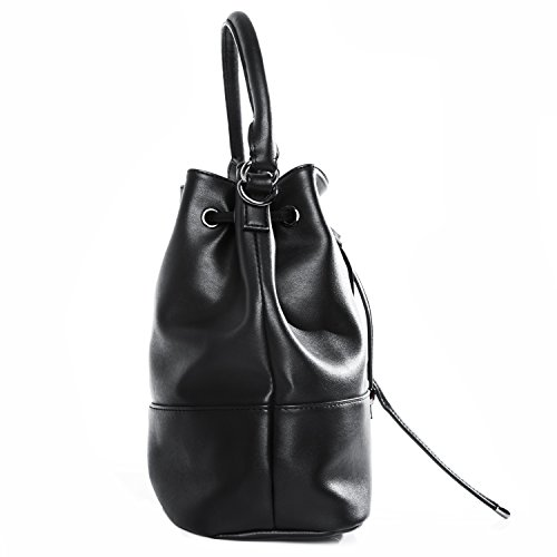 tragwert. Borsa a mano da donna Bucket Bag MIA nera - Borsa a spalla Borsa a tracolla Borsa a secchiello nero