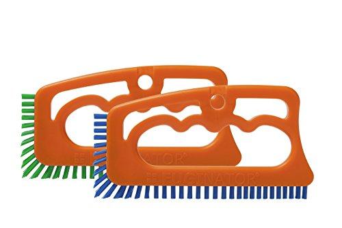 Fugenial 'Fuginator' Fugenbürste für Küche, Möbel und Haushalt - Reinigt effektiv Fugenfliesen und entfernt Schimmel oberflächlich- 2er Spar Reinigungsset - Blau/Grün (Universal Reinigung/Küchenreinigung)