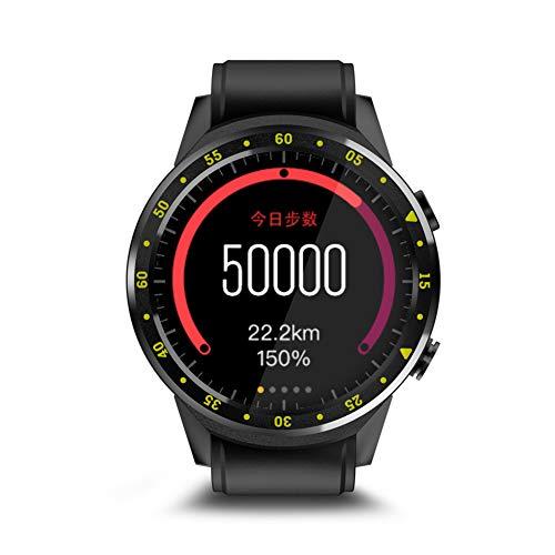 Huhuswwbin orologio sportivo sim bluetooth sport frequenza cardiaca f1 bluetooth supporto smart sport watch per telefono android ios - nero