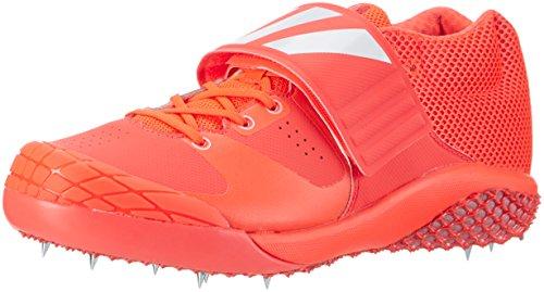 adidas Adizero Javelin, Scarpe da Atletica Leggera Unisex – Adulto, Multicolore Rosso (Solar Redftwr Whitesilver Metallic)