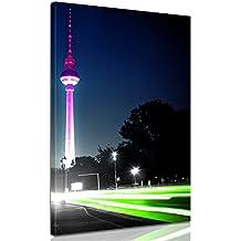 """Bilderdepot24 bastidor imagen - Cuadros en Lienzo """"Con vistas a la Torre de televisión de Berlín"""" ( Berlín - Centro ) 80x140cm - Made in Germany!"""