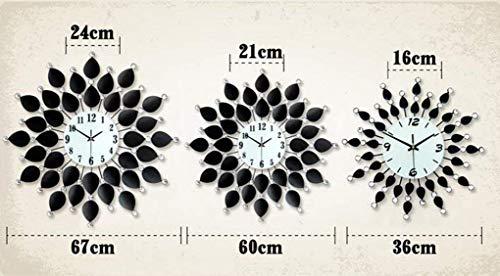 FAH Wanduhr Clock Industrie Wandbild, Schlafzimmer Wohnzimmer Moderne europäische einfache hängende Uhr ruhig Quarz Mode Wanduhr Uhr,60 cm * 60 cm
