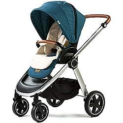Ligera Cochecito de Bebé Plegable silla de paseo Sillita compacta y deportiva Carrito Bebé de portatil multifuncional Carrito reversible plegado fácil con una mano para 0-3 años Carga hasta 15KG