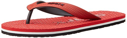 Sparx Men's Red Flip Flops Thong Sandals -7 UK  available at amazon for Rs.194
