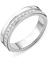 Miore - Anneau - Argent 925 - Diamant de synthèse