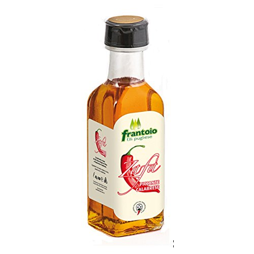 Olio extravergine di oliva al peperoncino piccante di calabria senza coloranti prodotto artigianale 10 cl