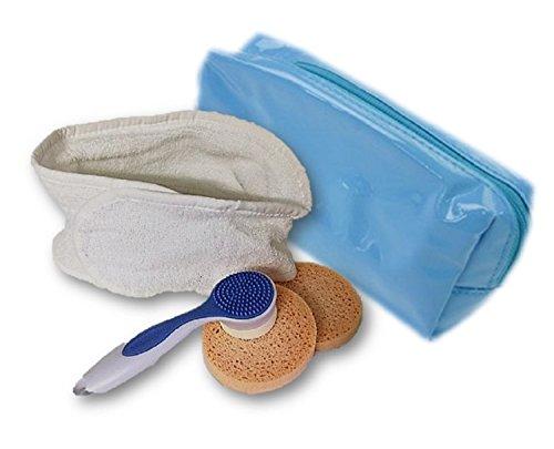 Nettoyage du visage Kit de soins pour le visage Peaux sensibles avec bandeau Massage Brosse de nettoyage abreini Gung éponge, Trousse