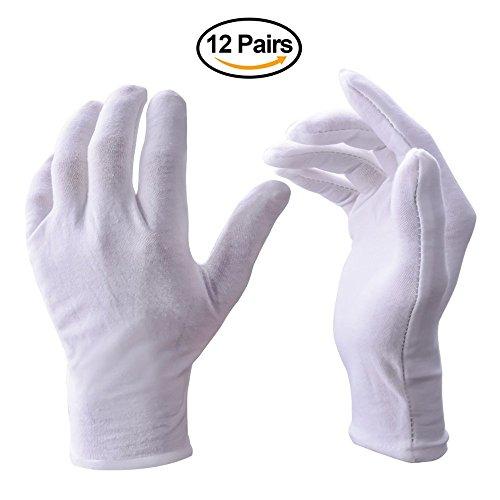 Bibliothekar Kostüm (70% Baumwolle Allgemeine Zwecke Feuchtigkeitsspendende Futter weiß Handschuhe)