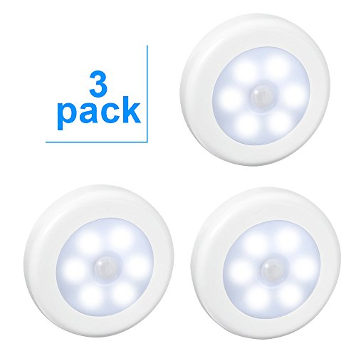 3-Pack-LED-Motion-Sensor-Night-Light-Aiguozer-PIR-Motion-Sensor-LED-Cabinet-Lights-Battery-Powered-Wireless-Lighting-Night-Light-Stick-with-FREE-3M-Adhesive-Pads-Magnetic-for-HallwayStairsWardrobeClos