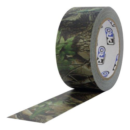 ProTapes 840178012654Pro Camo Duct PE Folie mit Reinigungstuch Carrier Unterstützung Premium Camouflage Klebeband, 20YD. Länge x 5,1cm Breite, real Tree Grün Muster