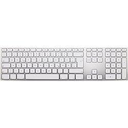 Matias FK418BTS-DE Aluminum kabellose Tastatur (mit Multi-Connect Funktionalität für Mac OS) silber